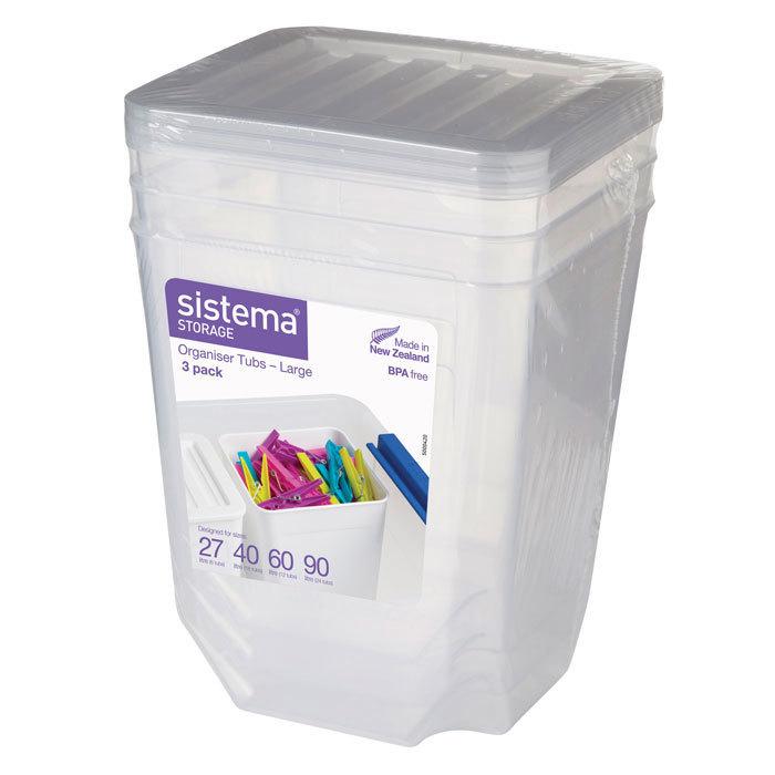 """Набор контейнеров-органайзеров Sistema """"Storage"""" 1,8 л, 3шт."""