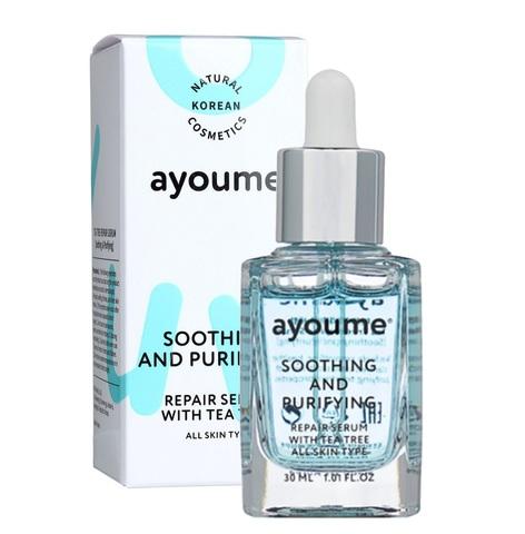 Ayoume Tea Tree Soothing & Purifying Serum сыворотка для лица успокаивающая c экстрактом чайного дерева