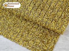 Полоса со стразами на силиконовой основе золото на золоте