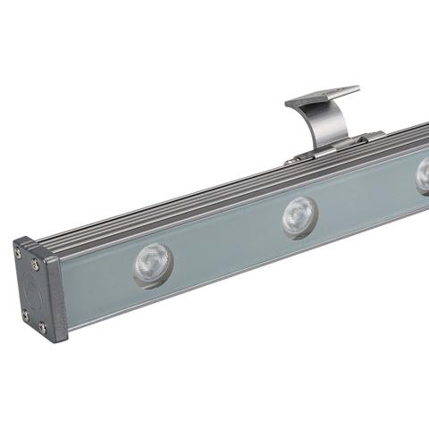 Светодиодный прожектор AR-LINE-1000XS-12W-24V RGB (Grey, 30 deg, DMX512) (ARL, Закрытый)