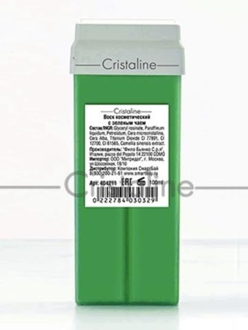 Воск с зеленым чаем в картридже COLOR Cristaline, 100 мл.