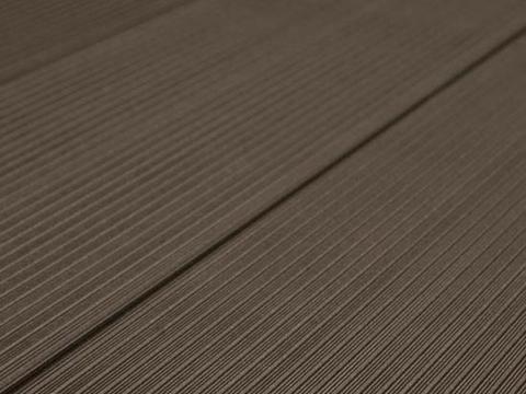 Террасная доска SW Salix. Цвет темно-коричневый.