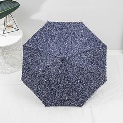 Женский зонт-трость, ручка-крюк, 8 спиц Yoco (Япония) синий цветочный принт