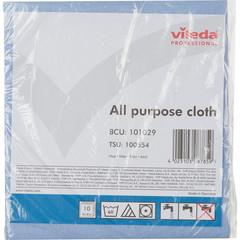 Салфетки хозяйственные Vileda Professional Универсальная вискоза/ПП 40x38 см синие 10 штук в упаковке (арт. производителя 101029)
