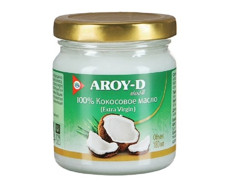 Кокосовое масло Aroy-D,100%, 180мл