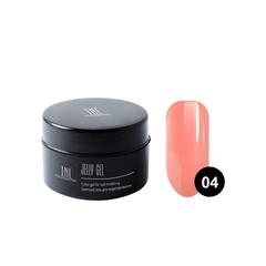 TNL, Гель-желе камуфлирующий розово-персиковый №04, 18 мл