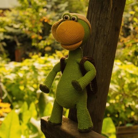 Черепашонок Чаппи вязанный - игрушка ручной работы