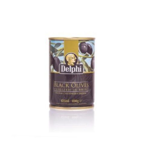 Маслины с косточкой в рассоле DELPHI 400 гр жесть
