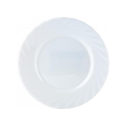 Тарелка десертная Luminarc Трианон стеклянная белая 155 мм (артикул производителя D7501)