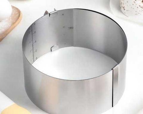 Кольцо раздвижное для выпечки D16-30 H8 см, оптом 6 шт.
