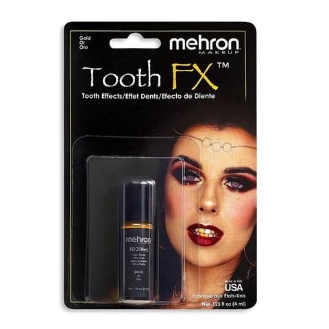 MEHRON Краска для зубов Tooth FX with Brush for Special Effects - Gold (Золотая), 4 мл