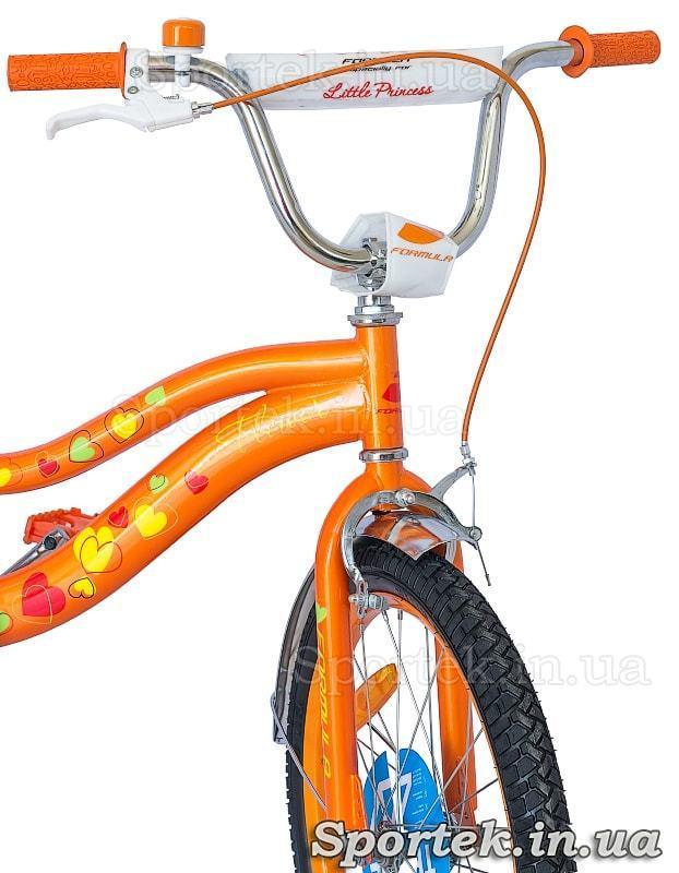 Руль девчачьего велосипеда Formula Flower