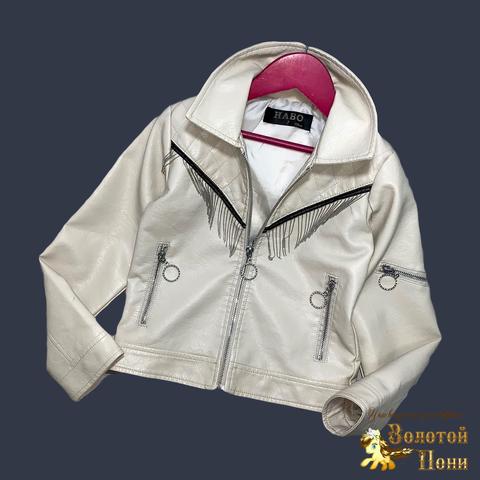Куртка эко-кожа девочке (5-13) 210524-К74031