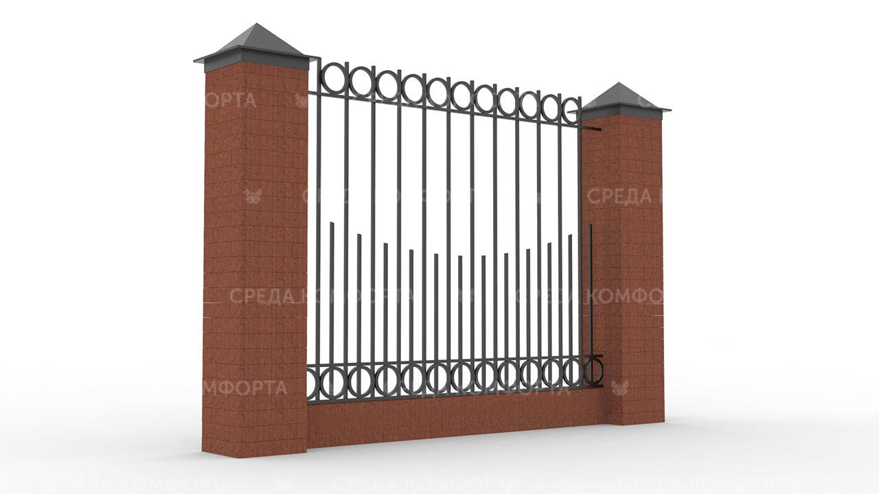 Забор из профильной трубы ZBR0146