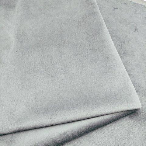 Бархат матовый стрейч, ворс 0,5 мм., серый  (выбрать  размер)