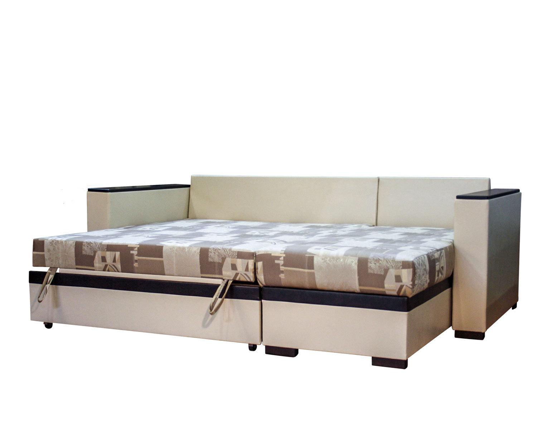 угловой диван-кровать Карелия-Люкс 2д2я без стола, спальное место 1380х1900 мм