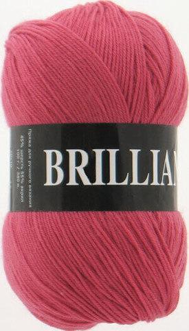 Пряжа Brilliant Vita 4960 темный красный коралл фото
