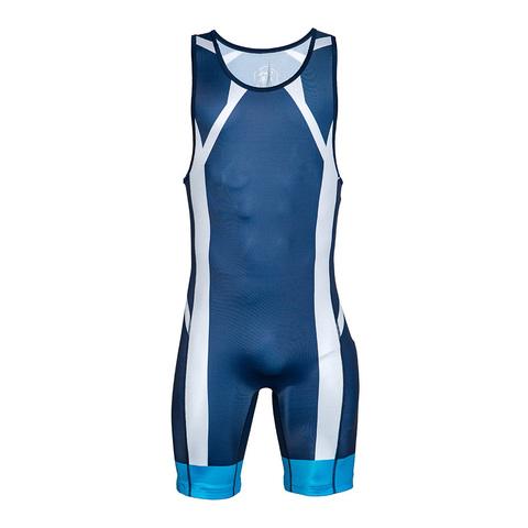 Мужское борцовское трико ASICS 157516 темно-синее