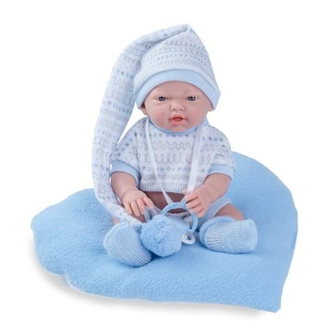 Пупс новорожденный малыш в колпаке Nines d'Onil
