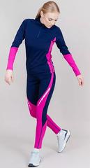 Раздельный лыжный гоночный комбинезон Nordski Base Dark Blue/Pink