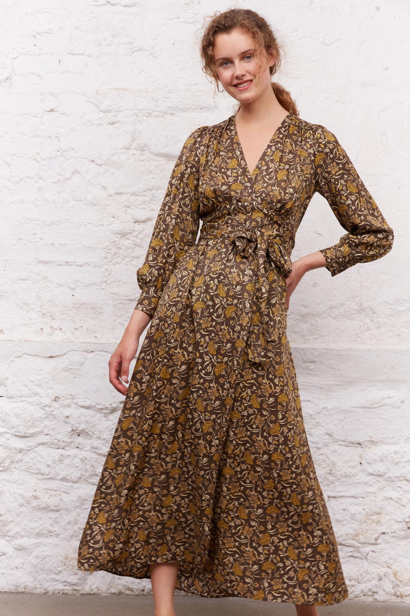 JANE - Длинное платье с цветочным принтом