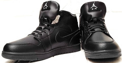 Зимние ботинки мужские кроссовки джордан Nike Air Jordan 1 Retro High Winter BV3802-945 All Black