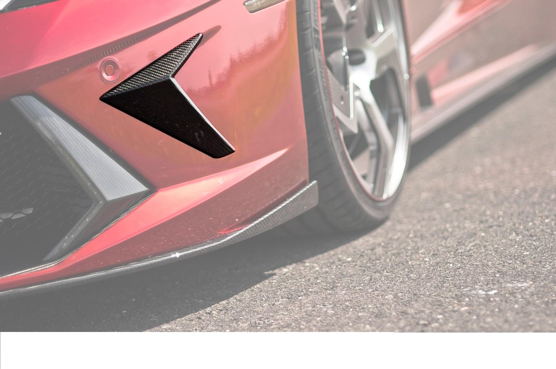 Карбоновые уголки на передний бампер Mansory Style 2 для Lamborghini Aventador