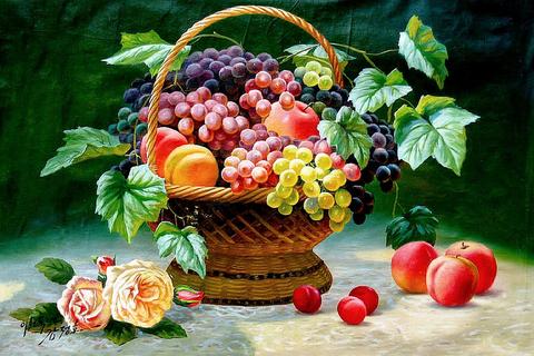 Алмазная Мозаика 5D 40x50 Корзина фруктов