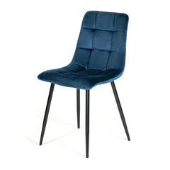 Стул CHILLY (mod. 7094) металл/вельвет, синий/черный, G062-48