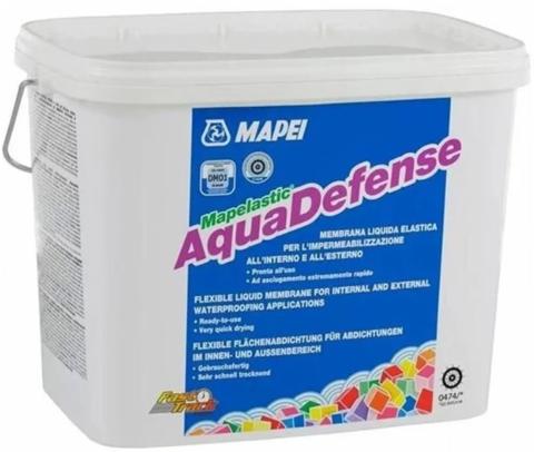 Готовая гидроизоляция Mapelastic Aquadefense, 7,5 кг.
