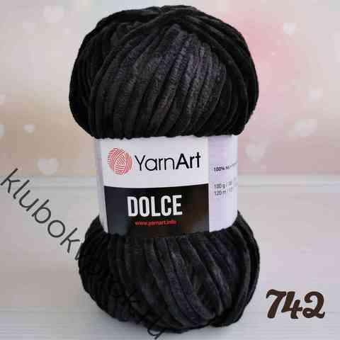 YARNART DOLCE 742, Черный