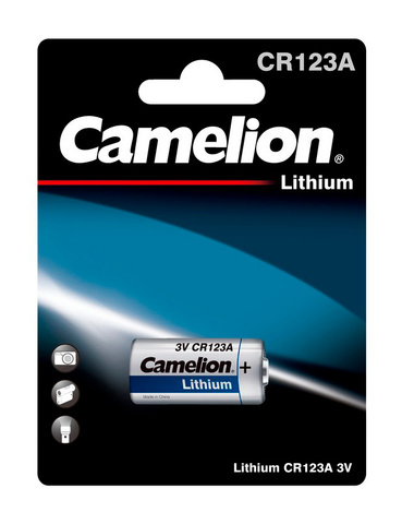 Батарея Camelion Lithium CR123A BP-1 CR123A 1300mAh (1шт) блистер