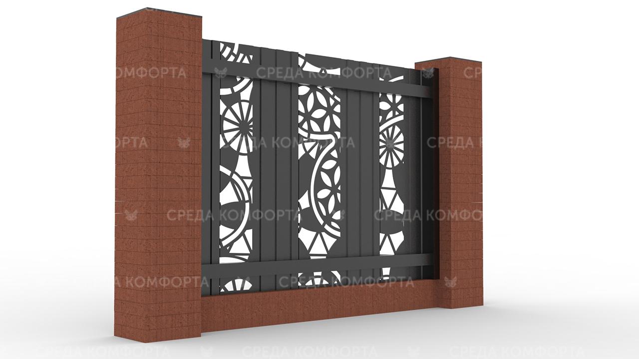 Забор из профлиста 2500х2000 мм ZBR0025 (столб для забора продается отдельно)