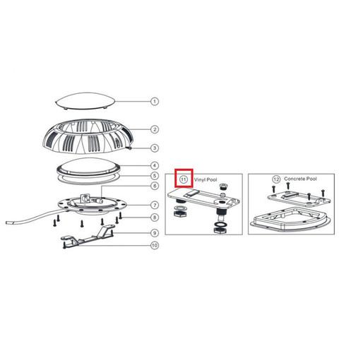 Крепление для прожекторов Aquaviva LED/UL-TP100 под лайнер / 11901