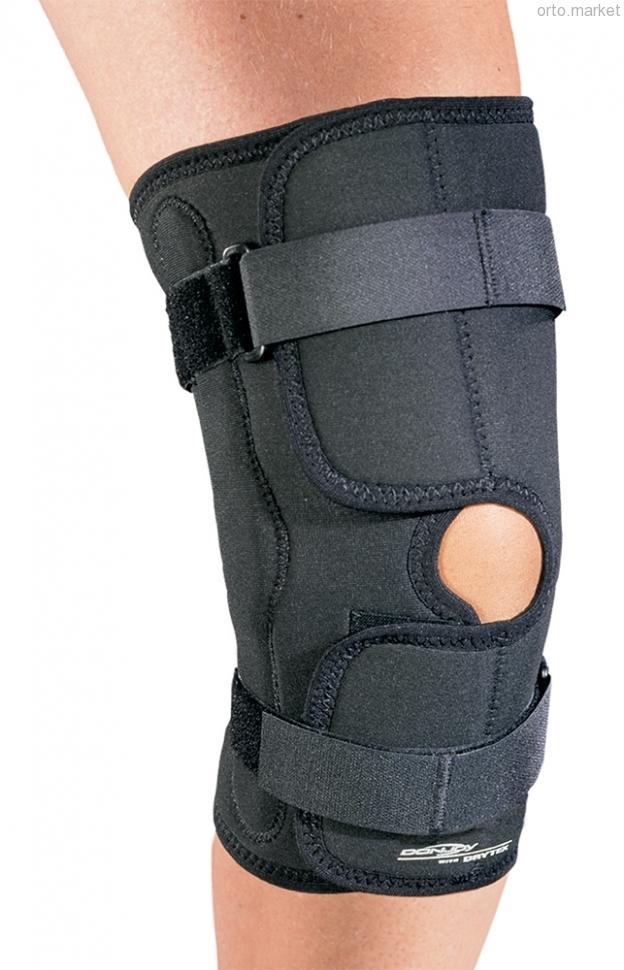 С нерегулируемыми шарнирами Ортез полужёсткий шарнирный DonJoy Drytex economy hinged knee wrap 92631ae88470f6bf5e44afbc377f2766.jpg