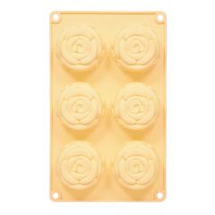 Форма из силикона «Розы» 27х16,5х3,5 см, 6 ячеек