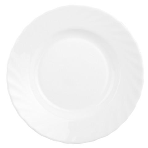 Тарелка суповая Luminarc Трианон стеклянная белая 225 мм (артикул производителя H4123/N5016)