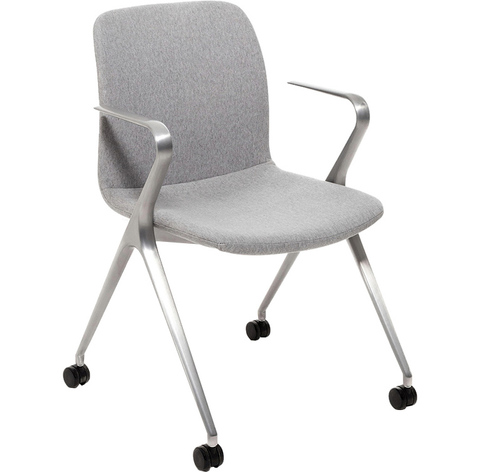Кресло Hanson Meeting серая ткань / матовый алюминий