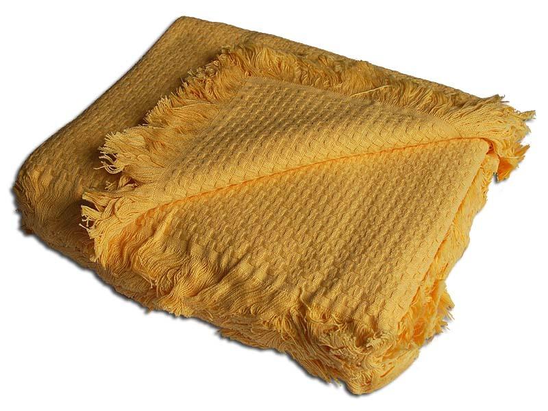 Покрывала Плед вязаный хлопковый  Design  желтый 1408  Buddemeyer Бразилия 1408.jpg