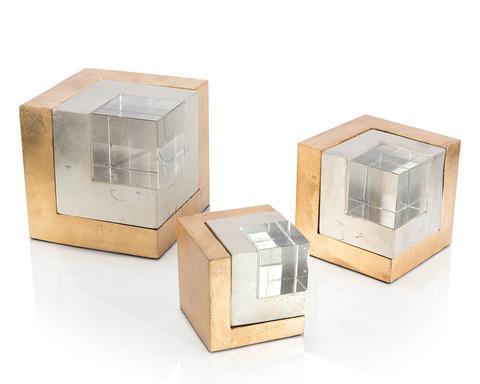 Set of Three Cradled Cubes