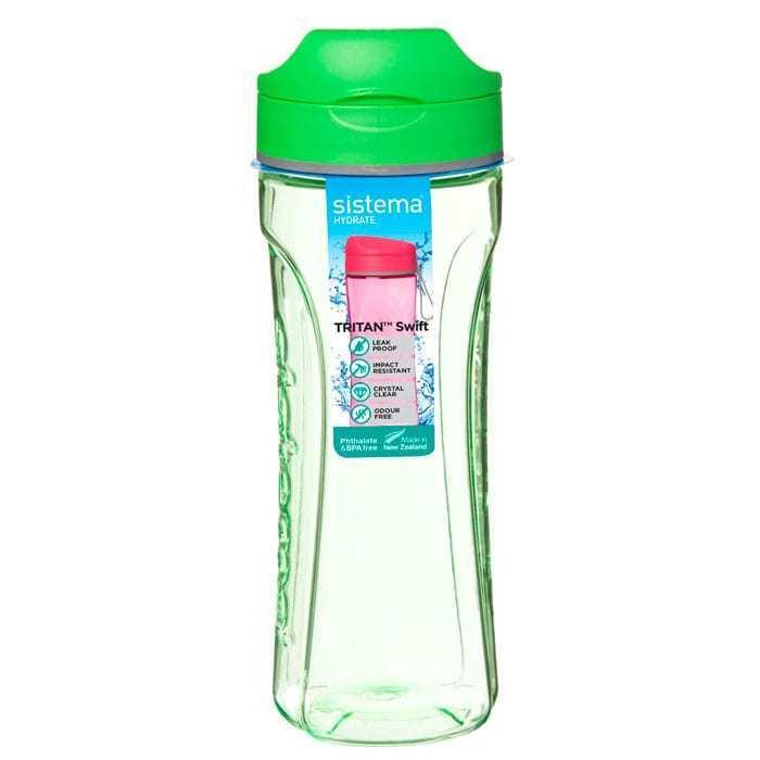 """Бутылка для воды Sistema """"Hydrate"""", Тритан, 600 мл, цвет Зеленый"""