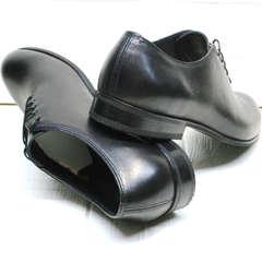 Кожаные туфли мужские классика Ikoc 063-1 ClassicBlack.