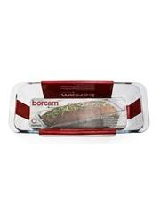 Форма для выпечки кекса жаропрочная стеклянная прямоугольная 1,6 литра Borcam 59104 лоток прямоугольный 31х12х7 см рубашка