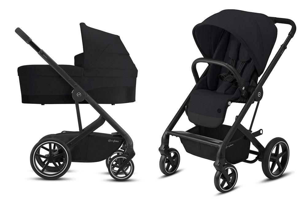 Cybex Balios S 2 в 1, для новорожденных Детская коляска Cybex Balios S Lux BLK 2 в 1 Deep Black BaliosSLux_CotS_OnFrame_BLK-2in1-deep-black.jpg