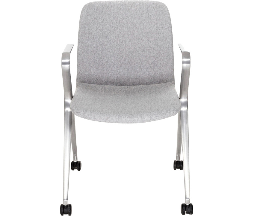 Кресло Hanson Meeting серая ткань / матовый алюминий - вид 2
