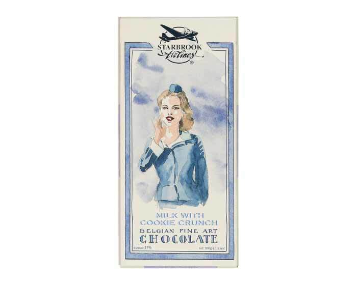Молочный шоколад Starbrook Airlines с дробленным печеньем, 100 г