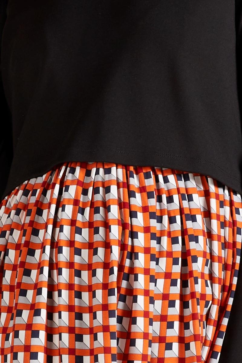 Фото платье для беременных GEBE от магазина СкороМама, геометрия, принт, размеры.