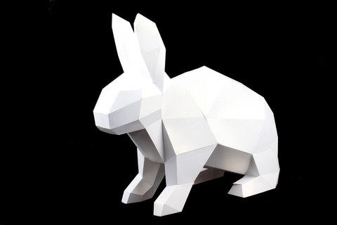 Конструктор. Кролик. Papercraft. 3D фігура з паперу та картону.
