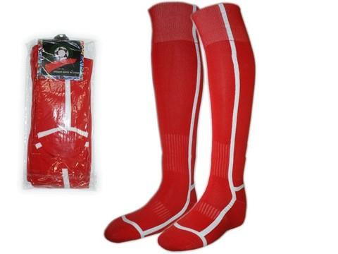 Гетры футбольные. Цвет: красный. Размер: 40-44. K-F