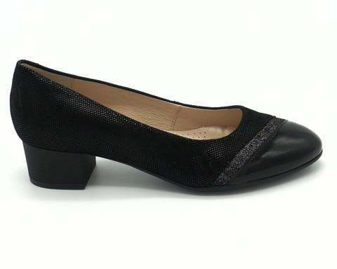 Туфли из комбинированной натуральной кожи